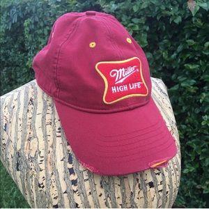 56d62b9004856 Miller Brewing Company Accessories - Baseball Cap Hat Maroon Gold Miller  Beer Unisex
